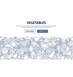 vegetables banner design vector image