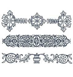 Vintage border frame filigree engraving with vector