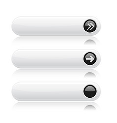 white buttons with black tags and arrows sign vector image