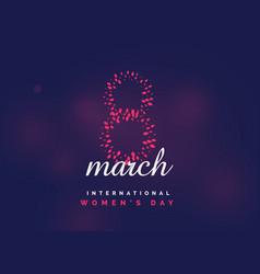 Womens day international celebration background vector