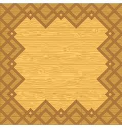 Wooden framework vector
