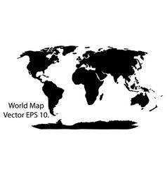 world map earth globe eps 10 vector image