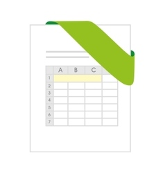 Xls document file green vector
