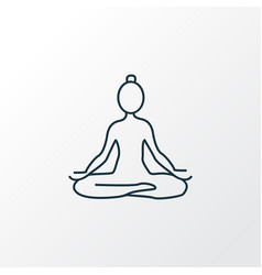 yoga icon line symbol premium quality isolated vector image