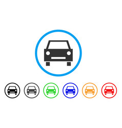 car rounded icon vector image vector image