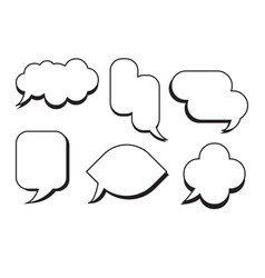 comic text speech bubble set dialog empty box vector image vector image