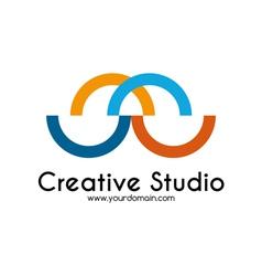 Creative studio logo template vector image vector image