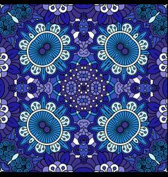 floral blue decorative doolde background vector image