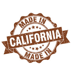 made in california round seal vector image vector image