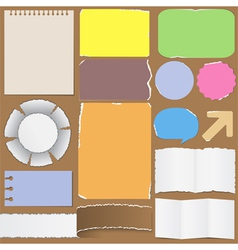 old paper objects vector image