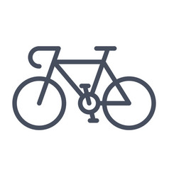 sport bicycle icon vector image vector image