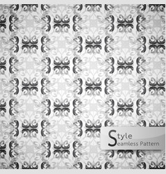 Abstract seamless pattern floral lattice row vector