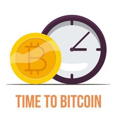 bitcoin icon cartoon style vector image vector image