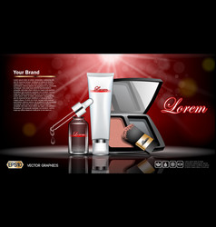 digital red and silver skin vector image vector image