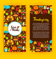 flyer template thanksgiving vector image