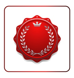 Seal award red icon Blank medal vector image vector image