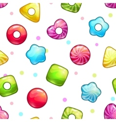 Seamless pattern with colorful glossy lollipops vector image