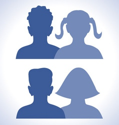 web friends icon vector image vector image