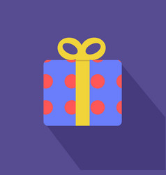 gift boxes with red circle pattern and yellow vector image vector image