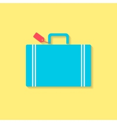luggage flat icon travel conception vector image