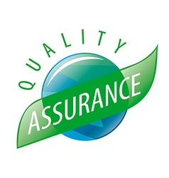 Round logo quality assurance vector image vector image