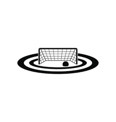 Water polo gates black simple icon vector