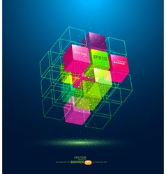 abstract colorful cube vector image
