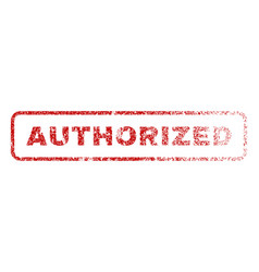 authorized rubber stamp vector image vector image