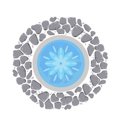 fountain with flowing water top view vector image