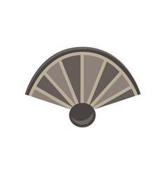 hand fan flat icon air art asian china design vector image