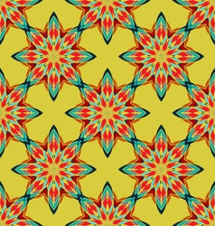 seamless mandala ornament flower pattern vector image