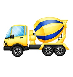 A yellow truck vector image