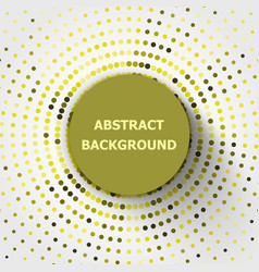 abstract background with yellow circles halftone vector image