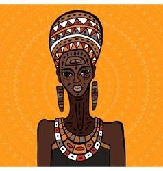 African woman portrait vector