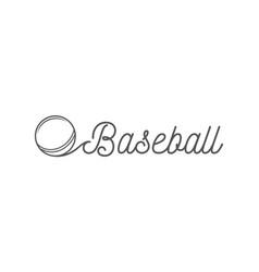 baseball lettering vector image