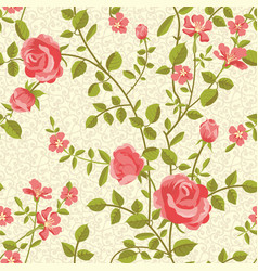 blooming roses seamless pattern vector image vector image