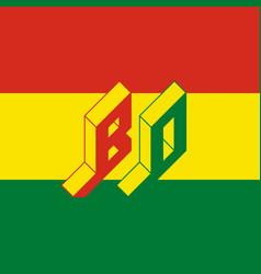 Bo - international 2-letter code or national vector