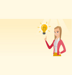 Business woman having business idea vector