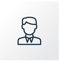 Businessman outline symbol premium quality vector