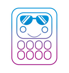 Calculator math kawaii character cartoon vector