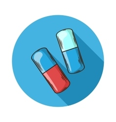 Capsules icon vector image vector image