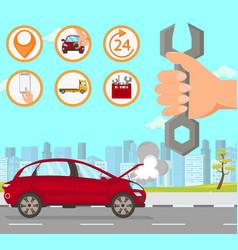 Car repair flat vector