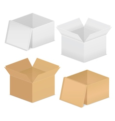 cardboard boxes vector image