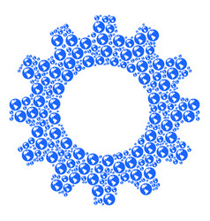 cog mosaic of earth icons vector image