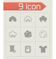 cotton icon set vector image