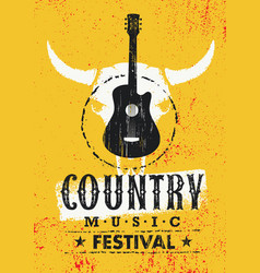country music festival creative textured vector image