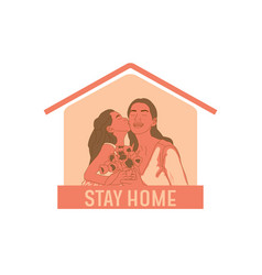Couple with flat take a donate box vector