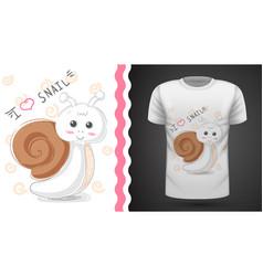 cute snail - idea for print t-shirt vector image