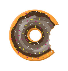 donut cake set isolated on white background vector image