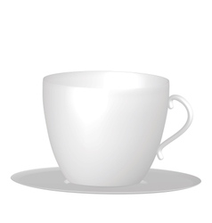 Empty coffe cup on saucer vector